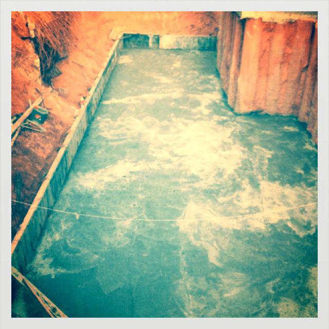 בטון רזה מתחת לרצפת מרתף